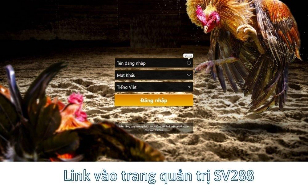 Link đăng nhập trang quản trị SV288
